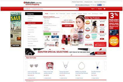 日本の人気ネットショップRakuten(楽天)は一昨年よりマレーシアの支店をオープン