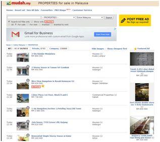 Mudah.com-マレーシアの最大ネットショップ。家や車のような値段の高いものも売られていますが、やはり売り手としっかり連絡をとるのは重要です