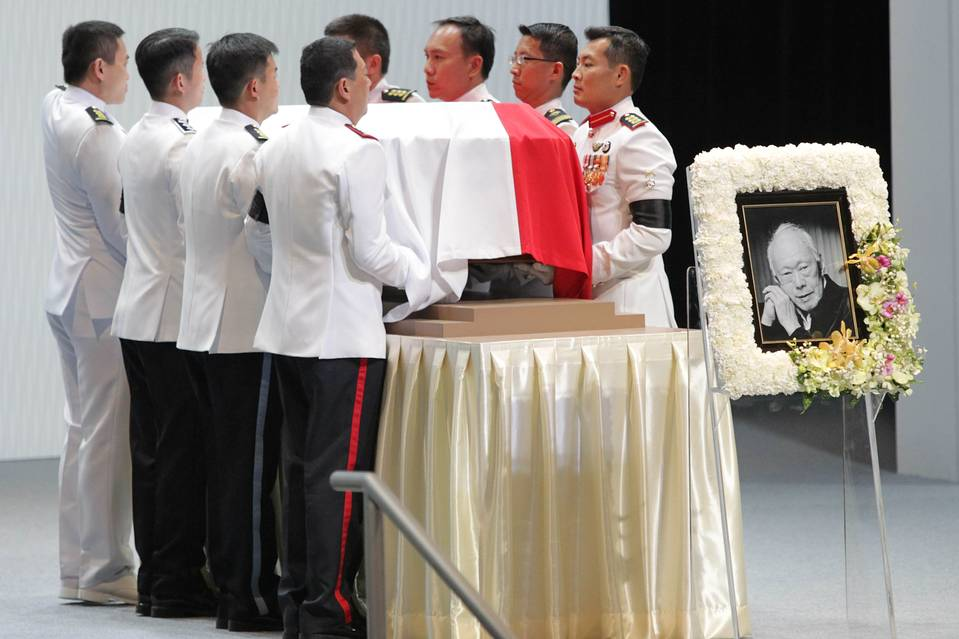 リークアンユー元首相ご葬儀 出典:www.wsj.com