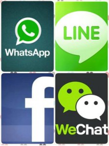 ASEANのチャットアプリ事情、LINE、wechat、BBM,Whatssapp